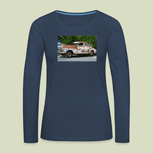 RustyCar - Naisten premium pitkähihainen t-paita