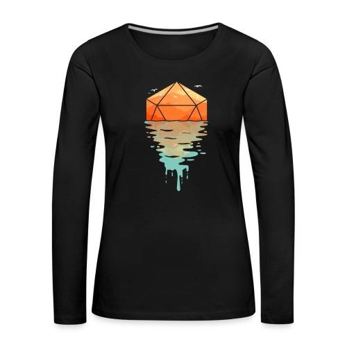 Rippling d20 - D & D Dungeons ja lohikäärmeet dnd - Naisten premium pitkähihainen t-paita