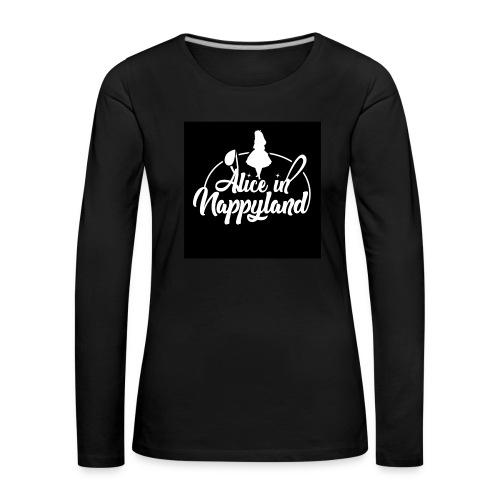 Alice in Nappyland TypographyWhite 1080 - Women's Premium Longsleeve Shirt