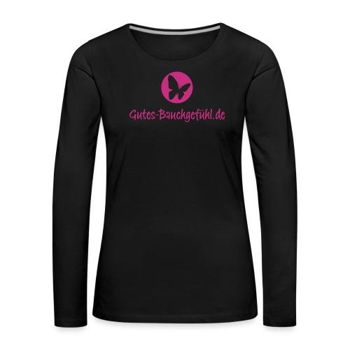 schmetterling im punkt ai - Frauen Premium Langarmshirt