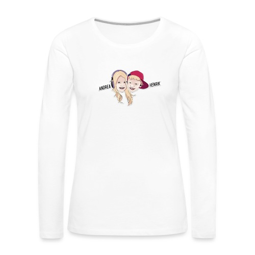 Enkel Logo - Premium langermet T-skjorte for kvinner