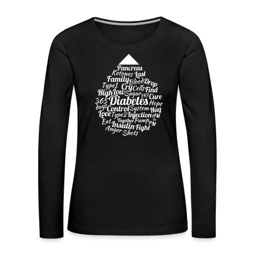 CURE DIABETES - Women's Premium Longsleeve Shirt