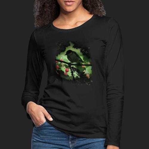 Petit oiseau dans la forêt - T-shirt manches longues Premium Femme