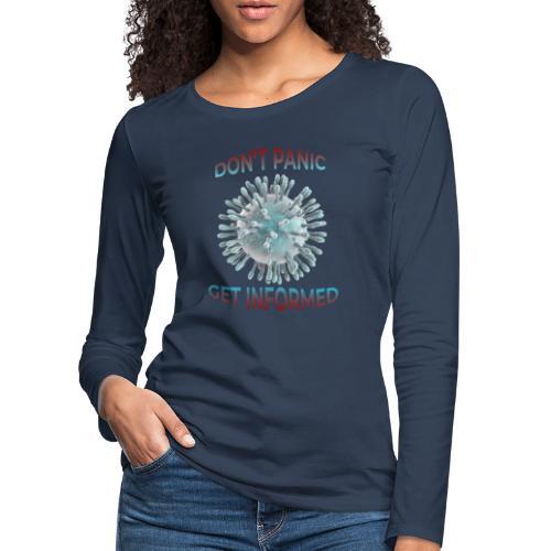 coronavirus - Camiseta de manga larga premium mujer