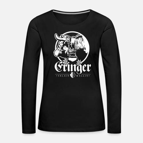 ERINGER – VALAIS / WALLIS - Frauen Premium Langarmshirt