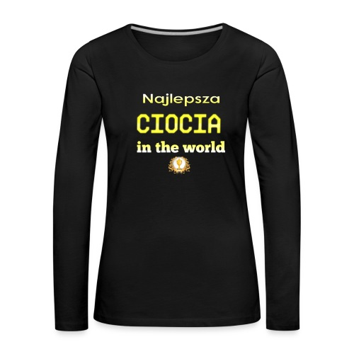 nadruk_rodzinne_11 - Koszulka damska Premium z długim rękawem