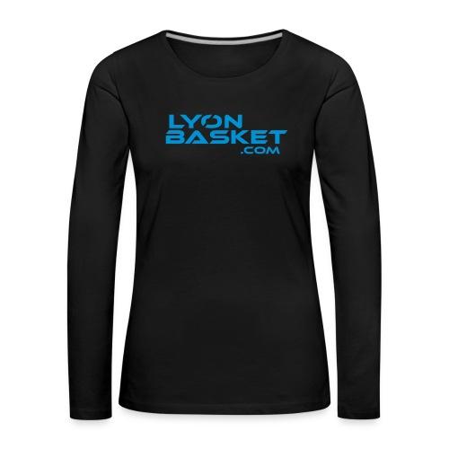 lyonbasketspread - T-shirt manches longues Premium Femme