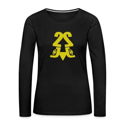 2J_GOLD - Dame premium T-shirt med lange ærmer