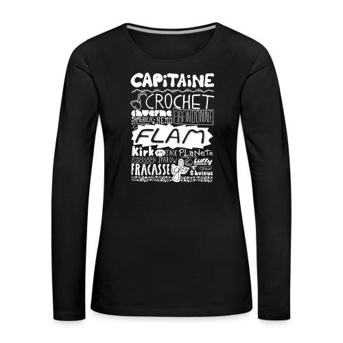 capitaine-blanc Tee shirts - T-shirt manches longues Premium Femme