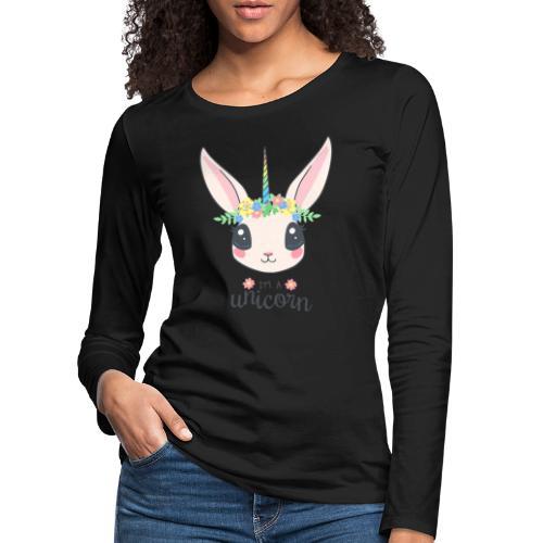 I am Unicorn - Frauen Premium Langarmshirt
