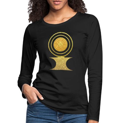 Native America Indianer Symbol Hopi ssl Sonne - Frauen Premium Langarmshirt