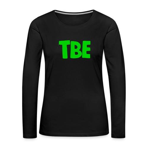 Logo groen - Vrouwen Premium shirt met lange mouwen