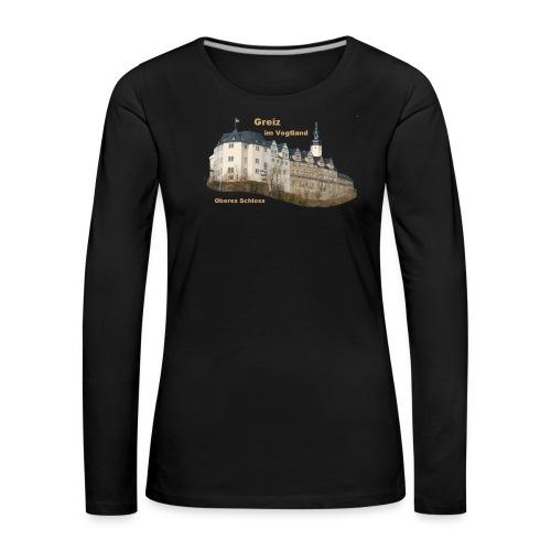 Greiz Schloss Design - Frauen Premium Langarmshirt