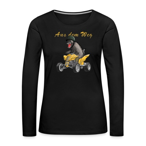 Wilder Quad Fahrer - Frauen Premium Langarmshirt