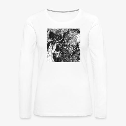 Enter the Linear Dream Square edition by Rivinoya - Naisten premium pitkähihainen t-paita
