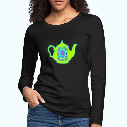 Wonders & Madness Tea Party - Women's Premium Longsleeve Shirt