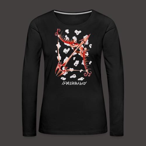 Sagittaire Négutif - T-shirt manches longues Premium Femme