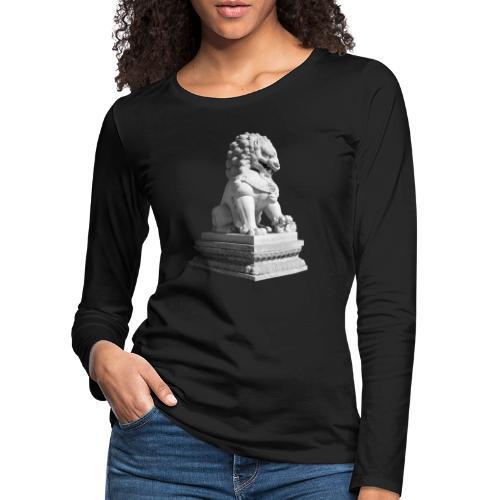 Fu Hund Tempelwächter Wächterlöwe Buddha China - Frauen Premium Langarmshirt
