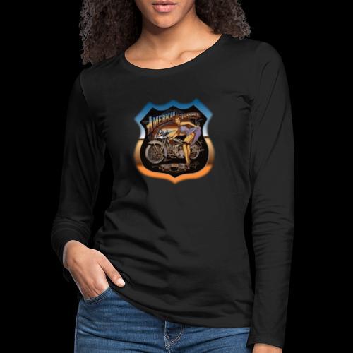 AMERICAN CLASSIC - Frauen Premium Langarmshirt