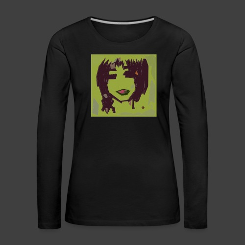 Green brown girl - Women's Premium Longsleeve Shirt