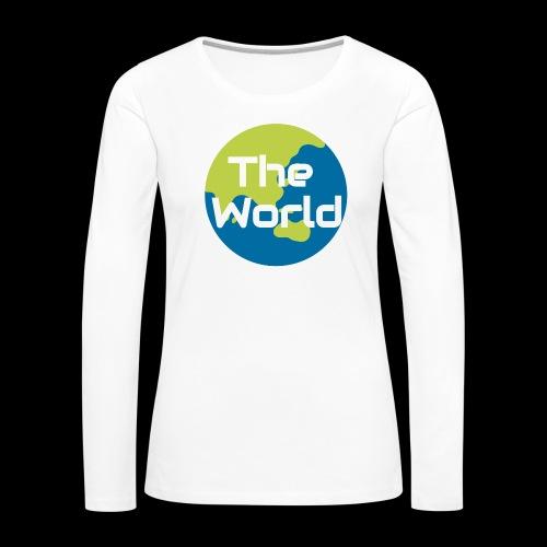 The World Earth - Dame premium T-shirt med lange ærmer