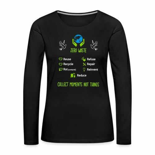 0 waste face - T-shirt manches longues Premium Femme