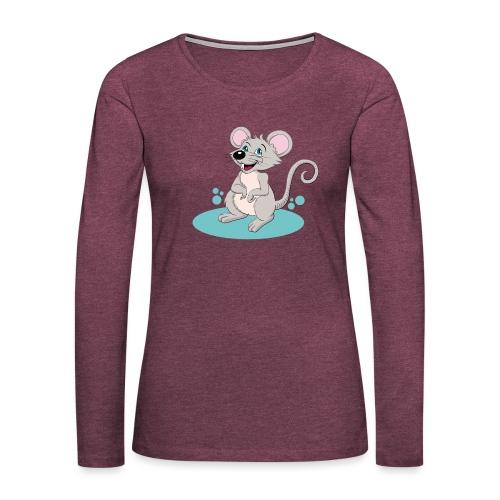Kleine Maus - Frauen Premium Langarmshirt