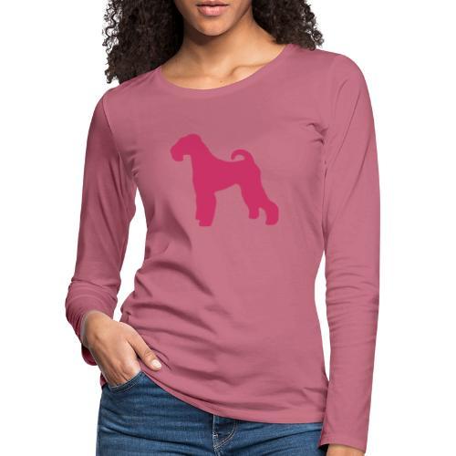 PINK Airedale Terrier - Women's Premium Longsleeve Shirt