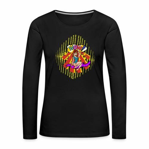 popartcontest - Camiseta de manga larga premium mujer