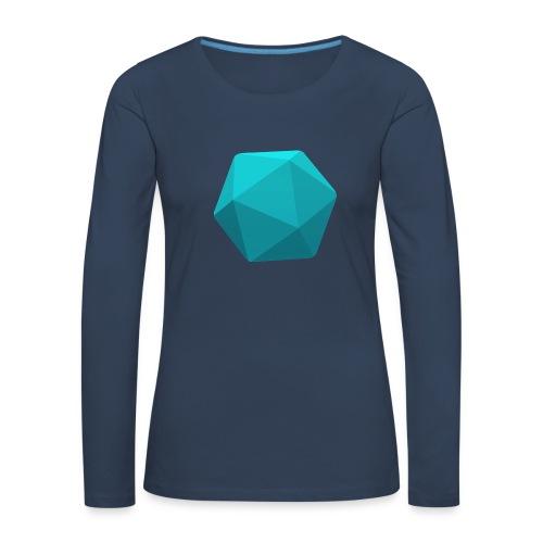 Blue d20 - D&D Dungeons and dragons dnd - Naisten premium pitkähihainen t-paita