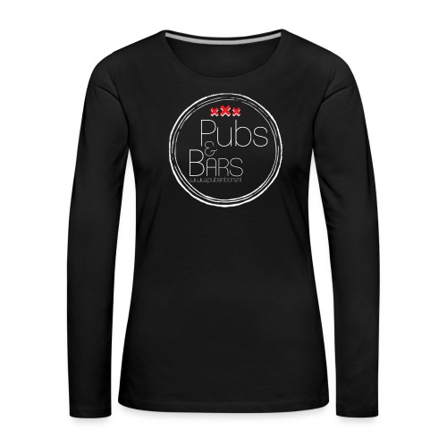 PubsnBars Merchandise - Vrouwen Premium shirt met lange mouwen