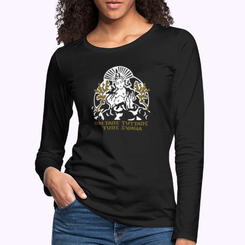 Valkoinen tara - Naisten premium pitkähihainen t-paita