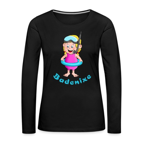 Badenixe - Schwimmerin - Frauen Premium Langarmshirt