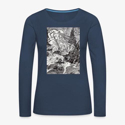 Pandora'sTwilight by Rivinoya - Naisten premium pitkähihainen t-paita
