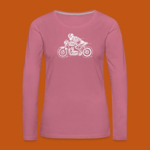 Cafe Racer Motorrad 05_weiß - Frauen Premium Langarmshirt
