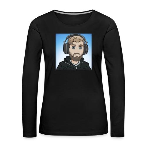 KalzAnimated - Dame premium T-shirt med lange ærmer
