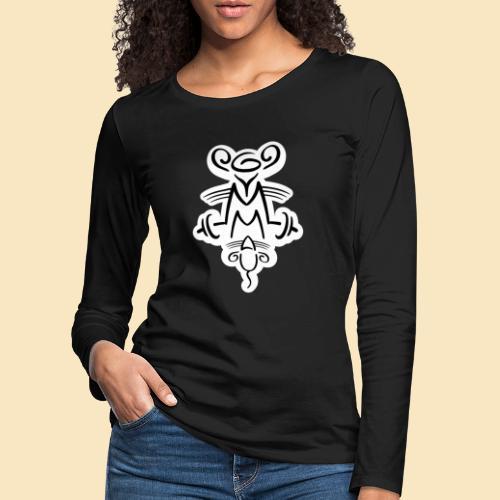 Gymmaus on black - Frauen Premium Langarmshirt