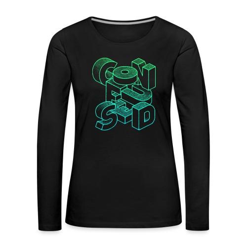 Confused - Långärmad premium-T-shirt dam