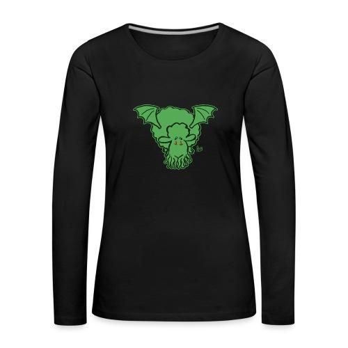 Cthulhu får - Dame premium T-shirt med lange ærmer