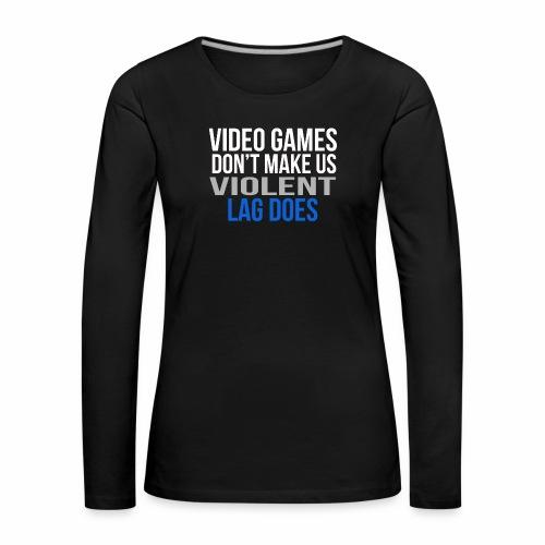 Video games - Naisten premium pitkähihainen t-paita