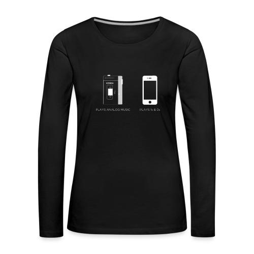 walkman analog - phone 1&0s - Women's Premium Longsleeve Shirt