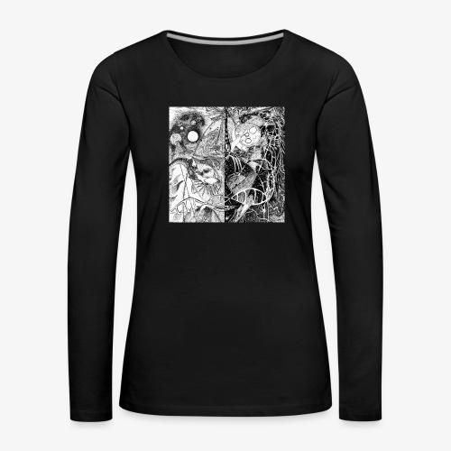 Universe in us all Square edition by Rivinoya - Naisten premium pitkähihainen t-paita