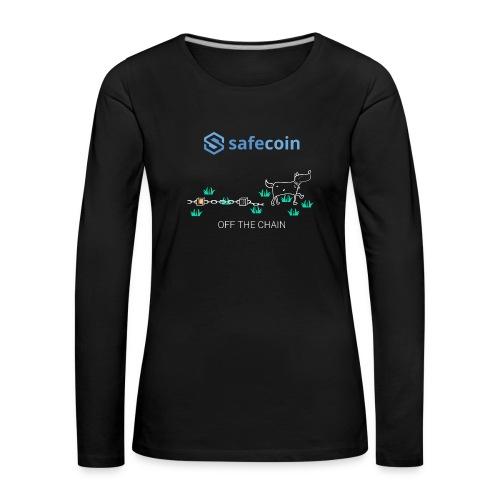 Dogey Chainfree White + blue - Women's Premium Longsleeve Shirt