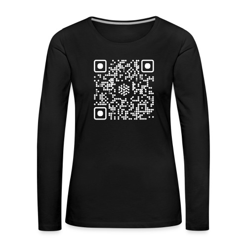 QR Safenetforum White - Women's Premium Longsleeve Shirt