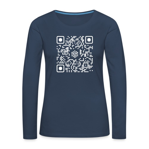 QR Safenetforum White - Women's Premium Longsleeve Shirt