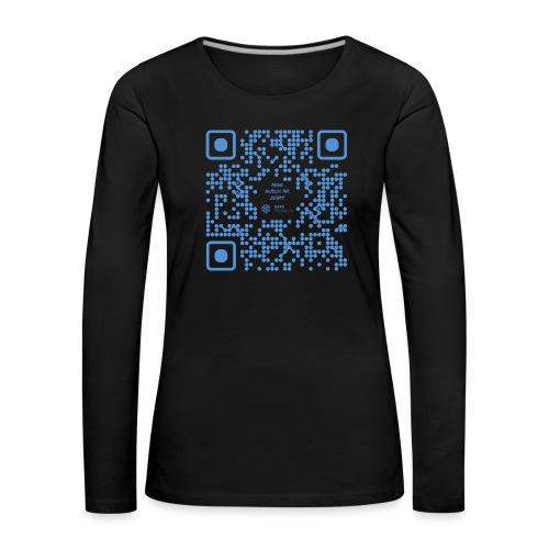 QR The New Internet Shouldn t Be Blockchain Based - Women's Premium Longsleeve Shirt