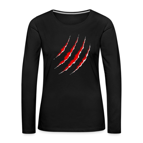 Scars - Dame premium T-shirt med lange ærmer