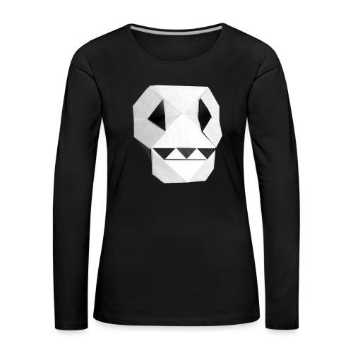 Origami Skull - Skull Origami - Calavera - Teschio - Women's Premium Longsleeve Shirt