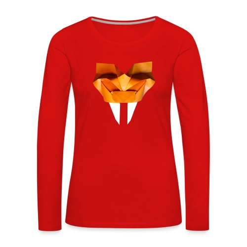Origami Saber Toothed Tiger Mask - Origami Tiger - Women's Premium Longsleeve Shirt