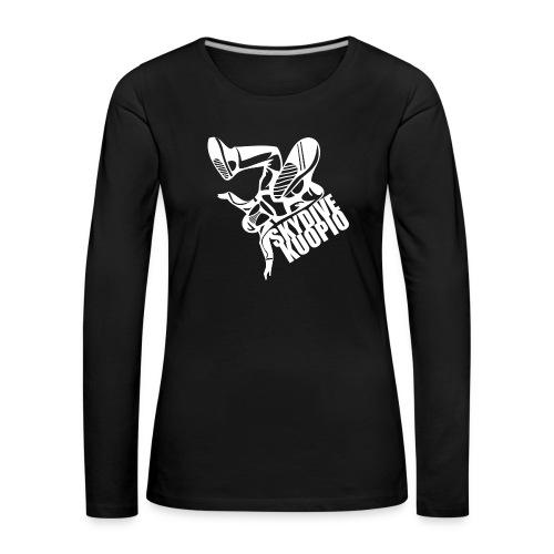 Valkoinen logo - Naisten premium pitkähihainen t-paita